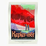Nasa Scifi Kepler Postcrossing Tourism Planet Science Travel Fiction Home Decor Wall Art Print Poster !