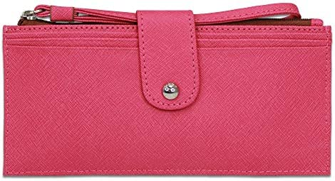 Hobo International Pipa Vintage Leather Wristlet Wallet in Pink Saffiano product image
