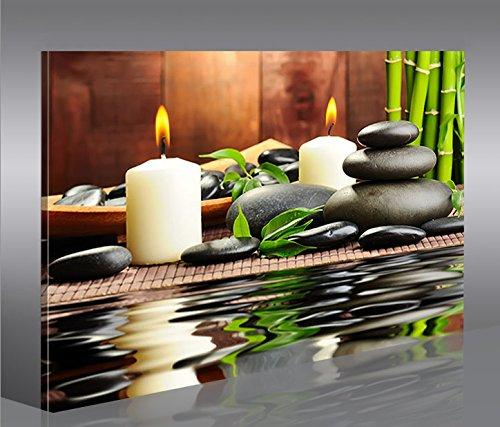 islandburner Zen Stones 1 Cuadro sobre Lienzo Cuadros Modernos y listos para Colgar. Cuadro Impresión fotográfica artística Obra de Arte