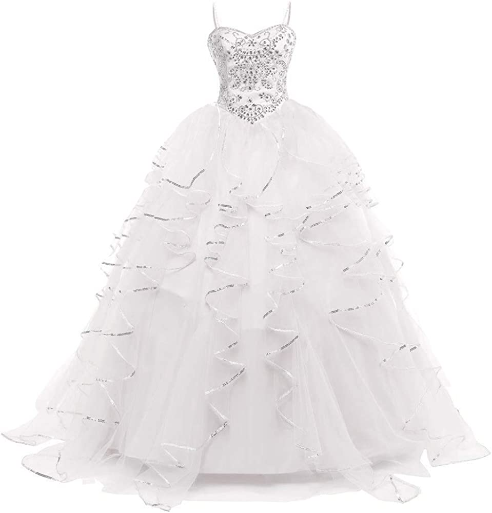 Dydsz Women's Quinceanera ランキングTOP10 Dresses Beaded 公式通販 Sweet 16 Gown Ball Prom