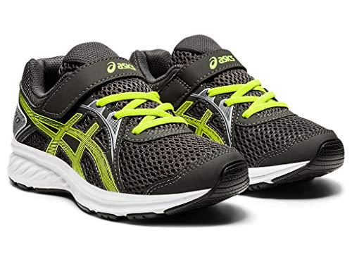 ASICS Jolt 2 PS Scarpe da corsa per bambini, grigio (Grigio grafite/Lime Zest), 34 EU