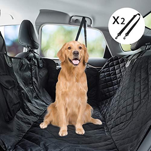 Youfen Hunde Autoschondecke - Hundedecke Rückbank, Hundedecke Auto Kofferraum für Haustiere, Hundedecke Rückbank wasserdichte mit Sichtfenster, Hundeschutzdecke Rücksitz für Auto und SUV (Schwarz)