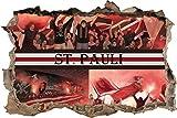 Ultras St.PauliCollage, 3D Wandsticker Format: 92x62cm, Wanddekoration