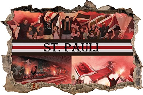 Ultras St. Pauli Collage, 3D Wandsticker Format: 92x62cm, Wanddekoration