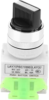 2 Akozon 10Pcs 2 Position gehalten Selector Selbstsichernde Drehschalter 22mm Mount LAY37-10X