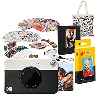 Kodak PRINTOMATIC Instant Print Camera (Black) Deluxe Bundle from Kodak