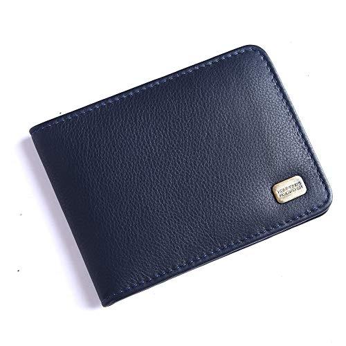 HAMMONDS FLYCATCHER Men's RFID Protected Genuine Leather Slim Money Clip Wallet - Transparent