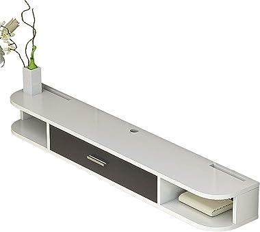 TV Cabinet, TV Lowboard, Floating Shelves, Floating TV Stand Component Shelf, 80/100/120/140/160CM Four Color Panel, Wall Mou
