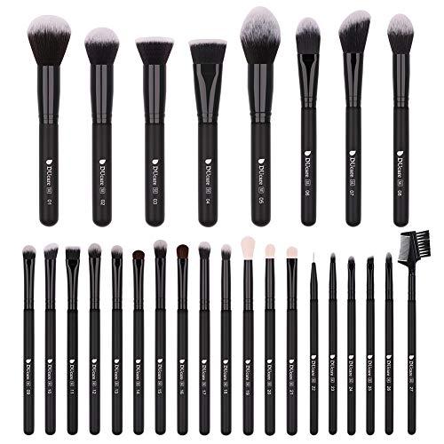 DUcare Makeup Brushes Set Professional 27Pcs Makeup Brushes Premium Synthetic Kabuki Foundation Blending Face Powder Blush Concealers Eye Shadows Make Up Brushes Kit
