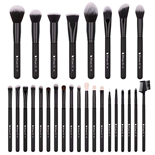 DUcare Professionelle Make Up Pinsel 27 Stück Makeup Brushes Premium Synthetische Schminkpinsel...