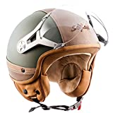 SOXON SP-325-URBAN Casque Jet Mofa Demi-Jet Cruiser Bobber Biker Retro Chopper...