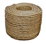 T.W Evans Cordage 30-094 1-Inch by 300-Feet Pure Number-1 Manila Rope