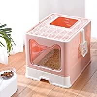 Easy Clean Litter Tray : Pull-out drawer design make cleaning of cat litter with less job , just clean cat feces by dragging the tray out, matching with cat litter scooper, you can slide the pan out clean it that way versus sticking you hand in the b...
