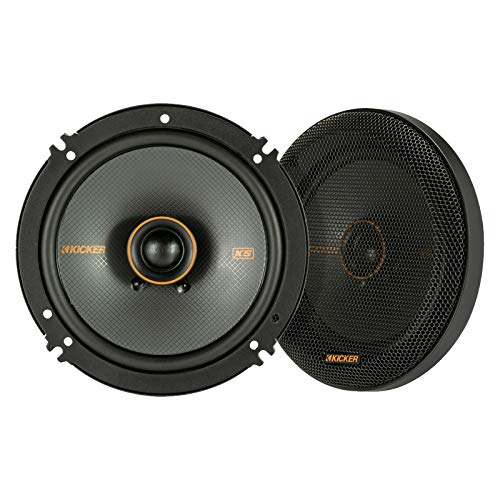 KICKER 47KSC6504 KS Series Automotive Car Audio 6.5 Inch 100 Watt and 4 Ohm 2 Way Coaxial Speaker with Grilles