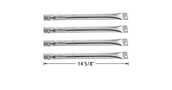 4pcs Grill Master 720-0697 Stainless Steel Burner Gas BBQ Replacement 812-7140-0
