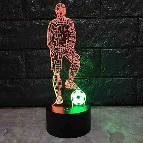 Nachtlicht Fußball Tee führte 3D Nachttisch Lampe Dekoration Baby Zimmer Lampe Geschenk Großhandel Valentinstag Geschenk Tischlampe