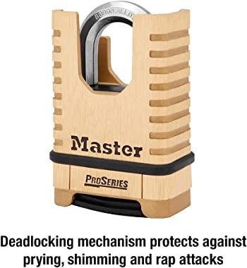 Master Lock, Brass, Padlock, ProSeries Set Your Own Combination Lock, 2-1/4 in. Wide, 1177D