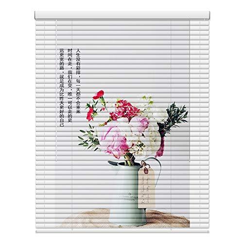 WENZHE Estores De Bambú Venecianas Persianas Estor Enrollable Imprimiendo Impermeable Cuarto De Baño La Cocina Aleación De Aluminio Sombrilla Sustentable, 2 Colores, Tamaño Personalizable
