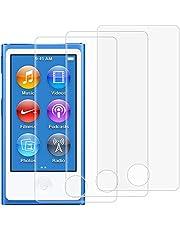 AFUNTA Protectores de Pantalla para iPod Nano 7 8 Generacion, Conjunto de 3 Películas de Protección de Vidrio Templado Cobertura Completa, Anti-rasguños HD Clear Bubble Free para Apple iPod Nano 7 8