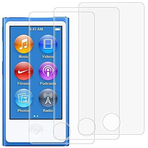 Displayschutzfolien für iPod Nano 7th 8. Generation, AFUNTA Set von 3 Full Coverage gehärtetes Glas Schutzfolien, HD Clear Anti-Kratzer Bubble Free für Apple iPod Nano 7 8
