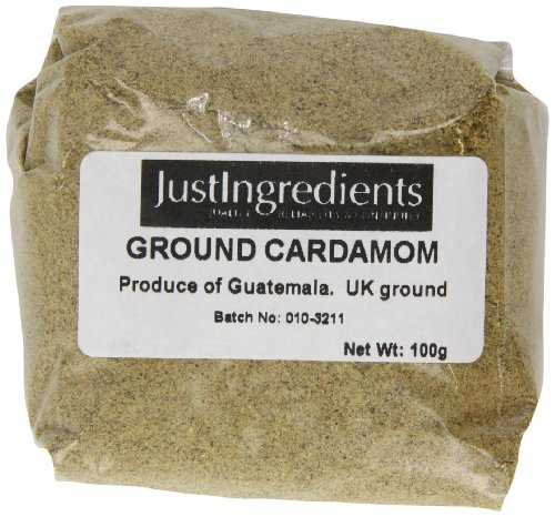 JustIngredients Essential Cardamomo Molido - 5 Paquetes de 100 gr - Total: 500 gr