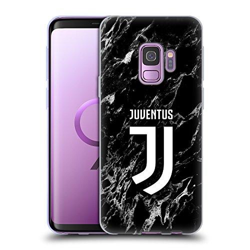 Head Case Designs Offizielle Juventus Football Club Schwarz Marmor Soft Gel Huelle kompatibel mit Samsung Galaxy S9