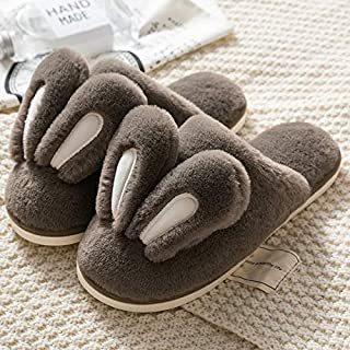 YANGLAN Cartoon Cacalia non-slip padded shoes new winter cotton slippers warm slippers home couple Household slippers (Color : E, Size : (37-38))