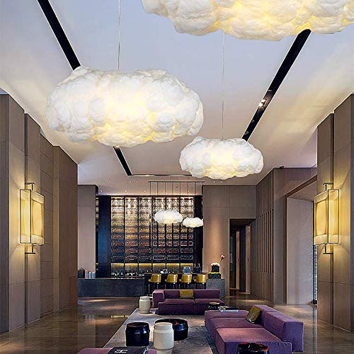 Candelabro Candelabro de seda Creative Cloud Iluminación para el hogar de centros comerciales y restaurantes Un juego de tres Material PVC Fibra química Buen material similar a la seda