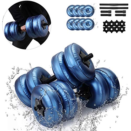 Read About QBQCBB Adjustable Dumbbells Water-Filled Dumbbells Weights Dumbbells Set for Gym Exercise...