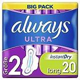Always Ultra Binden Damen Gr. 2 (20 Damenbinden mit Flügeln) Long, Big Pack, ultra dünn und super...