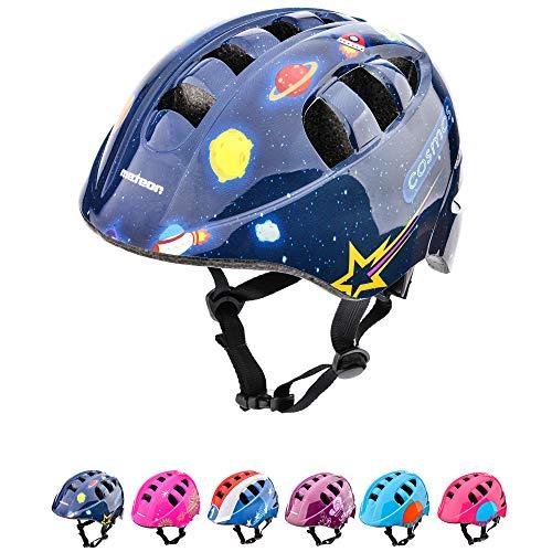 Casco Bicicleta Casco Biciclea Casco Bici Casco de Bicicleta para niños y jóvenes Casco MTB Carretera Ciclismo Skate Bicicleta patineta Patines monopatines MA-2 (S(48-52cm), Cosmic)