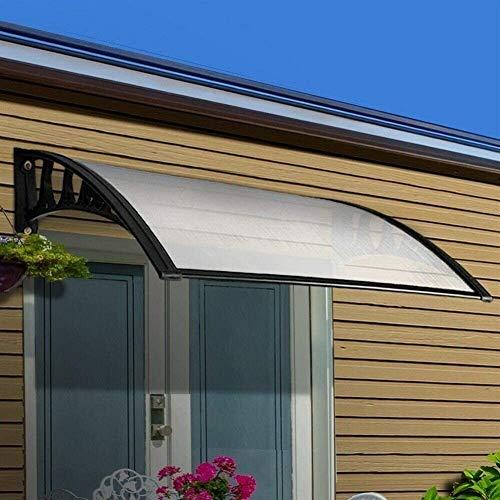 IOUYRRN Profundidad 100 cm Toldo Claro con Soporte de aleación de Aluminio - Sun Rain Shelter Anti UV Cubierta Exterior del jardín (Color: Claro, tamaño: 100x400cm)