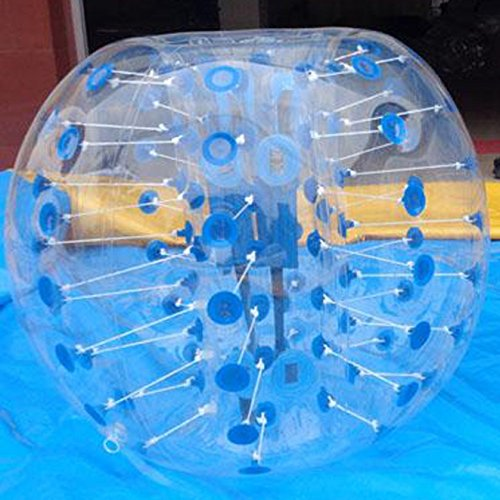 BiGe 1.5m (4.92ft) Body Zorb Ball Zorbing Inflatable Human Knocker Bubble Soccer Ball (Blue)