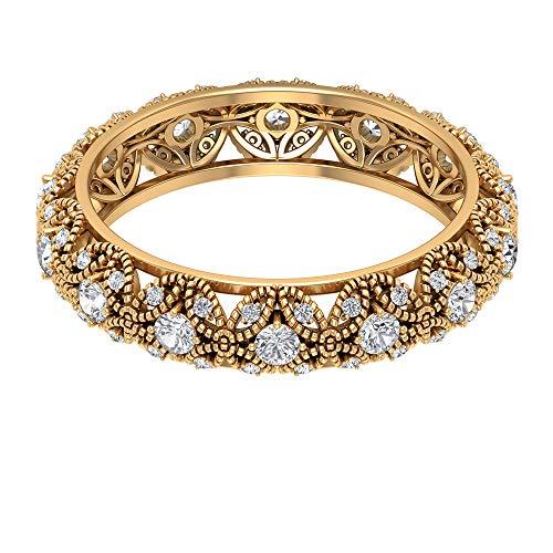 Rosec Jewels 18 quilates oro amarillo round-brilliant-shape H-I Diamond