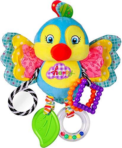Rolimate Juguete De Felpa Juguete Colgante Bebe, Juguetes de Animales Juguete Musical De Conejo para Silla de Paseo Cama Colgando, Regalos De Cumpleaños De Navidad para Recién Nacidos 0-18 mois