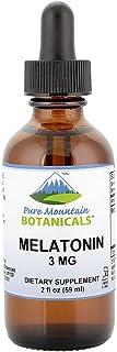 Liquid Melatonin 3mg - Natural Berry Flavored Kosher Melatonin Drops in 2oz Glass Bottle