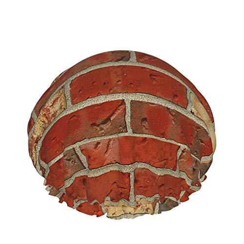 Red Bricks Crew Red Ladrillos Tripulación Microfibra Adulto Doble Capas Casquillo de Ducha Reutilizable