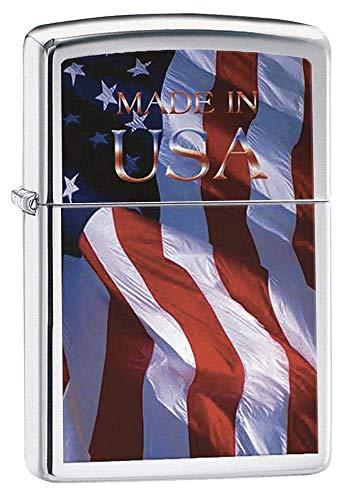 Zippo Made in USA Brushed Chrome Pocket Lighter
