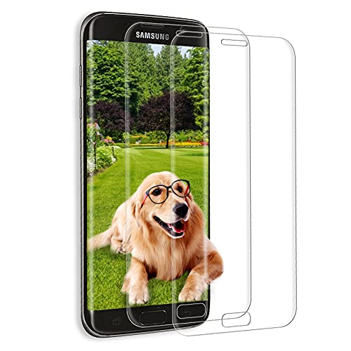 [2 Piezas] Protector de Pantalla para Samsung Galaxy S7 Edge, 3D Película de Vidrio Templado, 9H Dureza, Antiburbujas, HD Clear, Película de Vidrio Templado para Samsung S7 Edge – (Transparente)