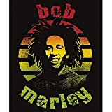 Bob Marley Circle Lightweight Fleece Throw Blanket | 45 x 60 Inches