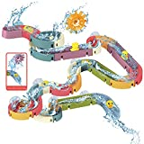 48 PCS Baby Bath Toys, Water Slide Toy Track with Suction Cup, Toy Ducks, Water Toys for Bathtub, Bath Toys for Toddlers 3-4 Years Old Boys Girls Gifts