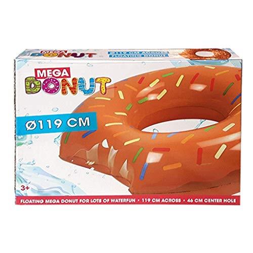 speelight goed Donut Swim BRN Donut Nager Anneau – Bague, 119 cm Marron