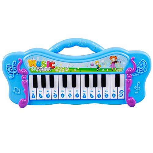 HShyxlkj Mini Teclado electrónico de Piano para niños, Juguete Musical con 7 Canciones de demostración precargadas, Mango Antideslizante, diseño de Dibujos Animados, Juguete Educativo y Musical