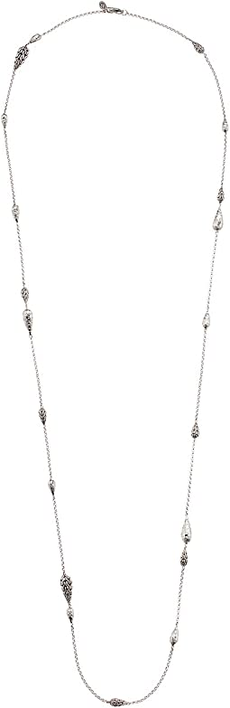 Classic Chain Hammered Station Necklace