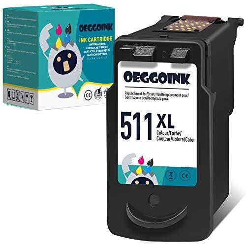 Oeggoink 511 XL Remanufactured Farbe Druckerpatronen für Canon CL-511XL Tintenpatronen für Canon Pixma MP495 MP250 MP270 MP280 MP480 MP499 MP230 iP2700 iP2702 MX320 MX350 MX410 MP240 Druckers(1 Pack)