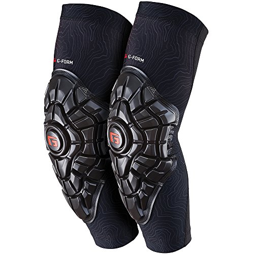 G-Form Elite Elbow Guards(1 Pair), Black Topo, Adult Medium