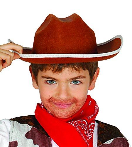 sombrero de vaquero en fieltro marrón bebé