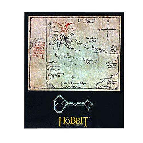 Der Hobbit - Eine Unerwartete Reise - Thorins Karte mit Schlüssel, Wandbild 25x21cm