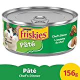 Friskies Pate Chef's Dinner Wet Cat Food, 156 g, 24 Pack, 3.74 kg