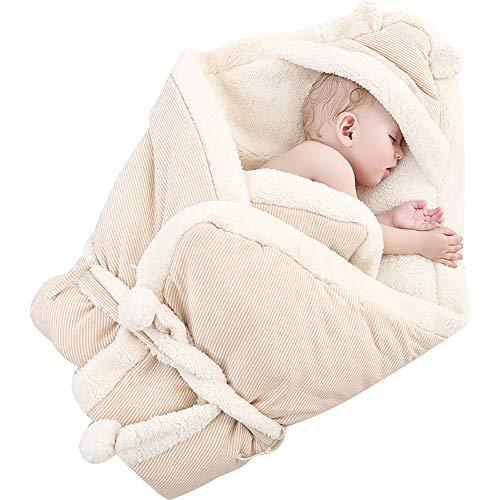 Lammsamt Neugeborenen hält eine Decke, Neugeborenes Baby Baumwolle Tasche Steppdecke Plus Samt Herbst und Winter Verdickung (80 * 80 cm)